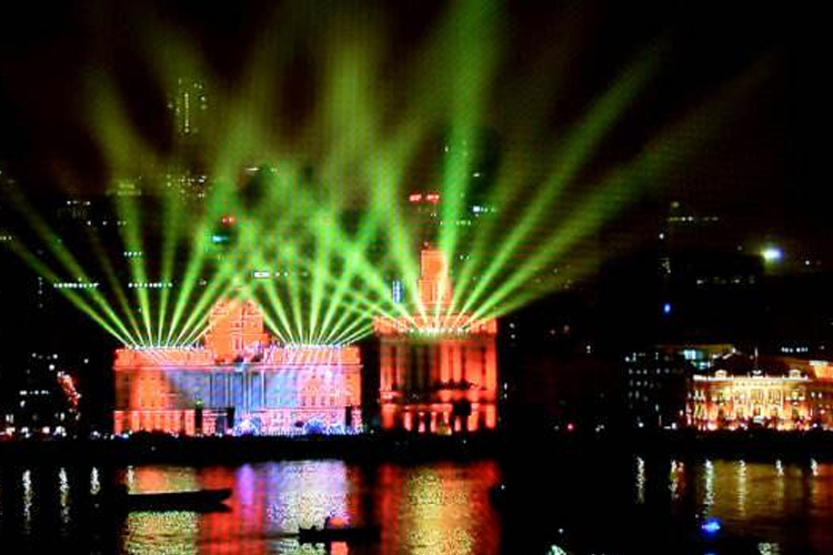 Shanghai New Year's night light show