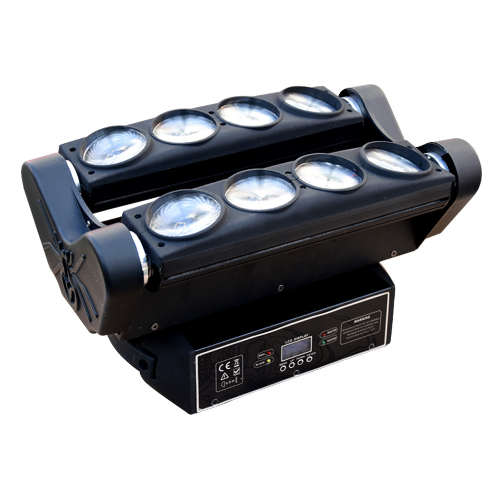 KZ-W810 LED8 eyes full color moving head spider lights