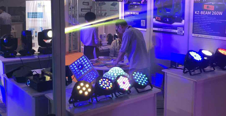 Kezun Stage Lighting Presentation was a complete success in PALM EXPO